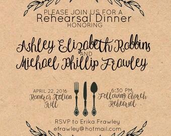 Rustic Rehearsal Dinner Invitation