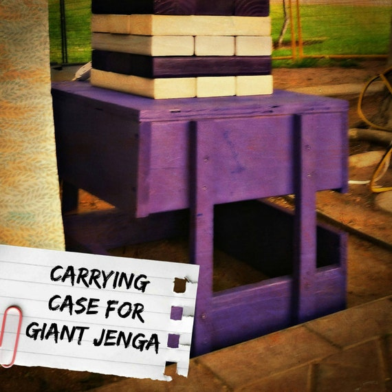 carrying case for giant jenga lawn games life size jenga by kwapa. Black Bedroom Furniture Sets. Home Design Ideas