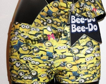 Bee-Do MINIONS - Wacki Bow Set - Adorable Minions Wacki shorts and matching bow!