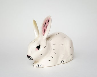 Vintage Hand Painted Ceramic Rabbit