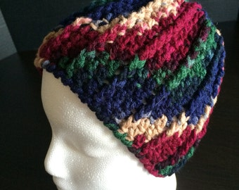 Crocheted Multi Color Ski Cap