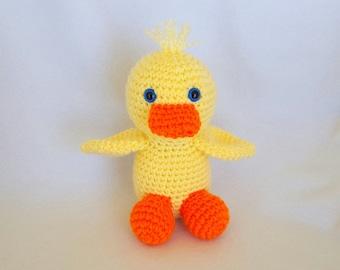 Puddles the Crochet Stuffed Duck