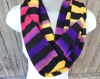 Multi Striped Infinity Scarf