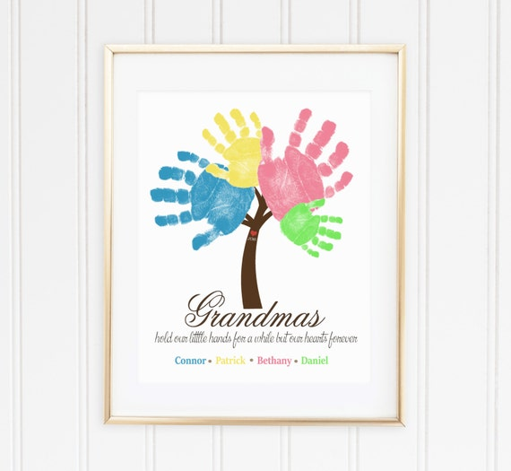 Grandmother gift idea sibling wall art by soulstudioprints for Birthday present ideas for grandma