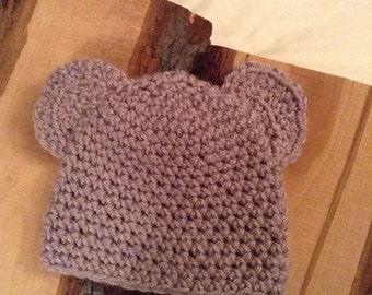 Mauve Bear Hat