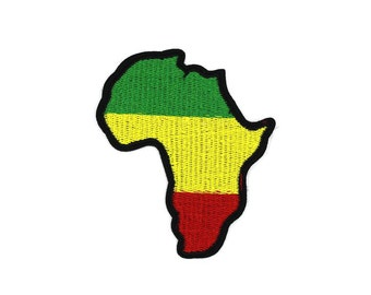 Africa Map Sew On / Iron On DIY Patch Embroidered Applique 7x8cm - RP154