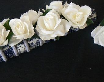 Set of 8 Floral Napkin Rings