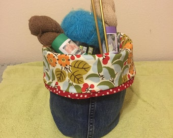 Blue jean ditty bag