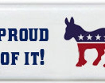 Democrat Donkey Custom Personalized Dominoes Set