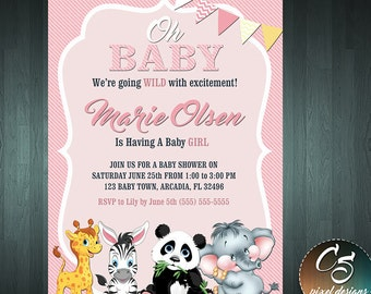 BABY SHOWER INVITATION - For A Girl