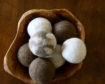 Alpaca Felted Dryer Balls - Set of 6 (SOLD OUT)