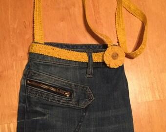 Jeans crossbody bag