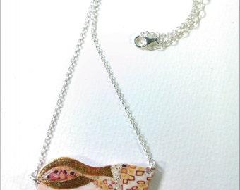 FRS006 -Collana con ciondolo fimo catena argento925 Polymer Clay pendant necklace silver925 idea regalo fatto a mano handmade originaldesign