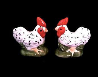 Vintage Chicken Salt And Pepper Shakers Ceramic Rooster Salt Pepper Shakers