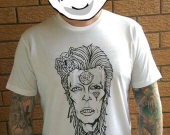 David Bowie T-Shirt, Ziggy Stardust, Glam Rock Artist, Band Music Shirt, Alternative Clothing, Men's Women's Fashion, Spunk Valley Australia