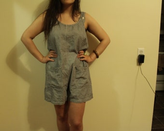 1980s Gigam Overalls Button down the side Oversided and adorable