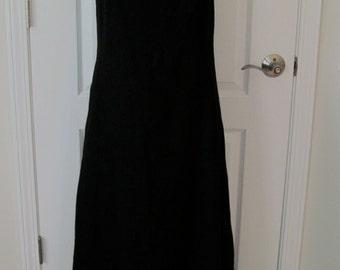 Bloomingdales Vintage Linen Maxi Dress Size 8