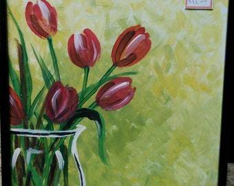 Tulip flowers Acrylic Painting
