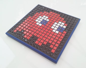 Pacman Ghost Pixel Mosaic