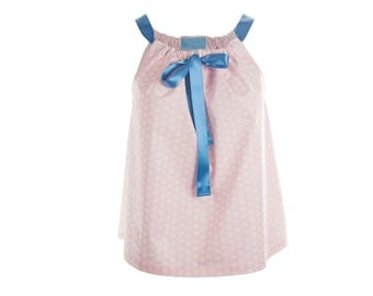Top of night Moony and pink cotton Ribbon
