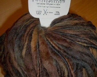 RANGE (was 9,55) - Lucas Virgin Wool - Brown - 100gr