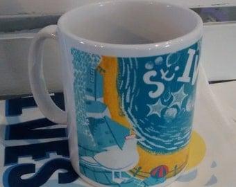 St Ives Smeatons Pier mug