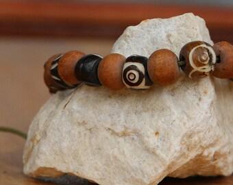 Carved Adjustable Bracelet Hand Made in Nepal - 0074