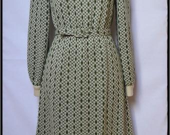 Mod dress//Winter dress//60s Geometric Print Mod//Dress60s Knit//Medium size dress//70s dress//1960 dress//Klänning//Kleid//Vestido//kjole