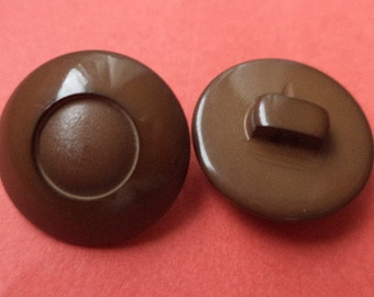 11 buttons dark brown 15mm (1944) button