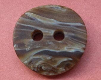 11 small dark brown buttons 13mm (5730) button Brown