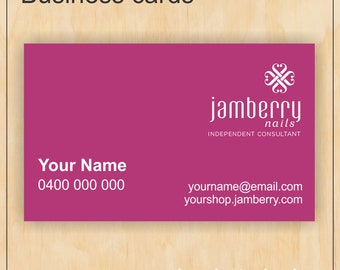Pink Business Cards for Jamberry Nails - Digital PDF file
