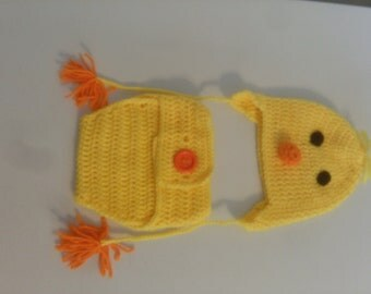 yellow duck baby diaper cover set