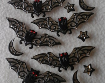 HALLOWEEN BAT EMBELLISHMENTS