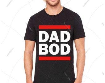 "Unisex - Premium Retail Fit ""DAD BOD"" Funny Shirt, Funny Tee, Crew-neck Tee, T-Shirt (S,M, L, XL+)"