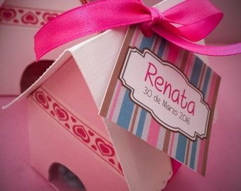 Custom box filled with fine confectionery