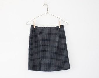 90's Vintage Plaid Skirt