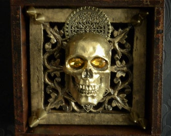 ENTROPY. Gothic Home Decor, Santa Muerte, Day Of The Dead, Goth, Punk, Shrine, Voodoo, Sinister, Macabre, Creepy, One Of A Kind, Death.