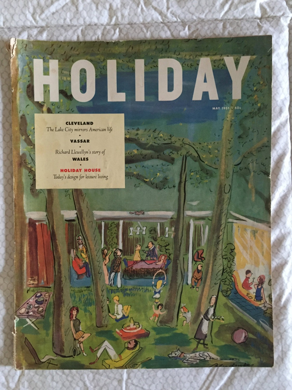 Vintage HOLIDAY Magazine November 1963 Harry Truman- travel, fashion
