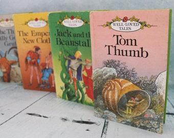 4 vintage Ladybird hardback children well loved tales