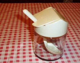 1970's Gemco USA Sugar/Honey Bowl W/Spoon