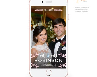 Custom Snapchat Geofilter: Mr & Mrs Wedding