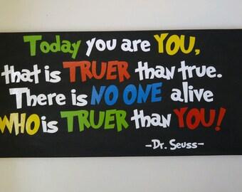 """Dr. Seuss 10""""x20"""" canvas"""