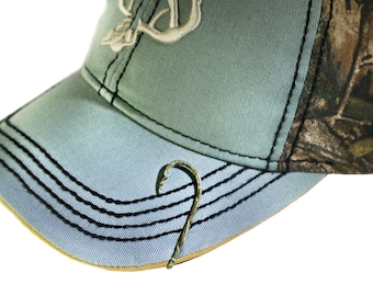 Fish hook hat pins etsy for Fishing hook hat clip
