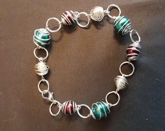 Bracelet, red, white, and blue