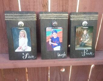Live, Laugh, Love Wooden Frames Set of 3