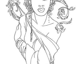 The Diverse Mage Coloring Page