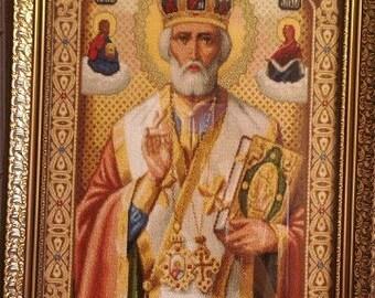 icon St Nicholas (Nicholas Ugodnik), Икона Николай Чудотворец (Николай Угодник)