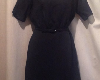 1940s / 50s  Rayon Back Fitted Dress with a matching Belt / make - Purtion - Forever Young