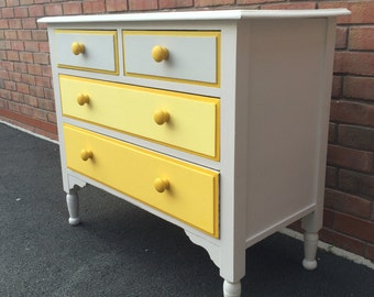 NOW SOLD Vintage refurbished / Upcycled chest of drawers