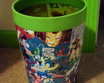 Comic Book Garbage Pail